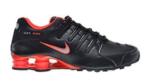 Nike Shox NZ Men's Shoes Black/Metallic Silver-Bright Crimson 378341-006 (8.5 D(M) US)