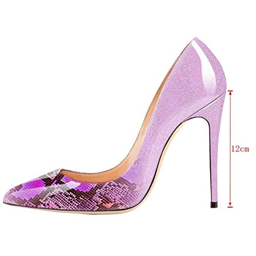 Toe Snake Pink Pumps Pan Tacco Eu 45 Shoes Donna Pointed On 35 Caitlin Stiletto Formal Dress Col Slip Scarpe Heel High Size 081nqxR