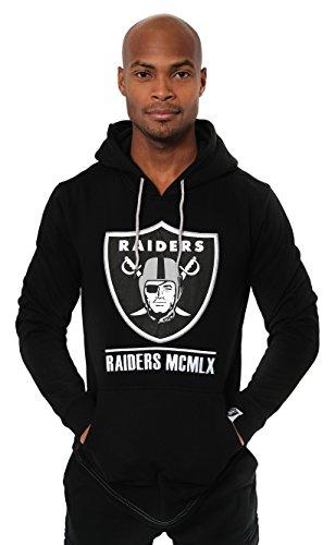 ICER Brands Adult Men Fleece Hoodie Pullover Sweatshirt Embroidered, Team Color, Black, Small ()