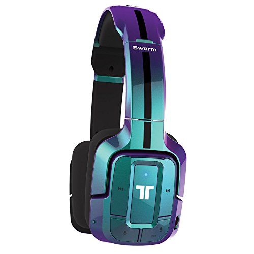 TRITTON Swarm Wireless Mobile Headset with Bluetooth Technology for Android, iOS, Smartphones, Tablets, PC, Mac, and Gaming Consoles -  Flip Blue