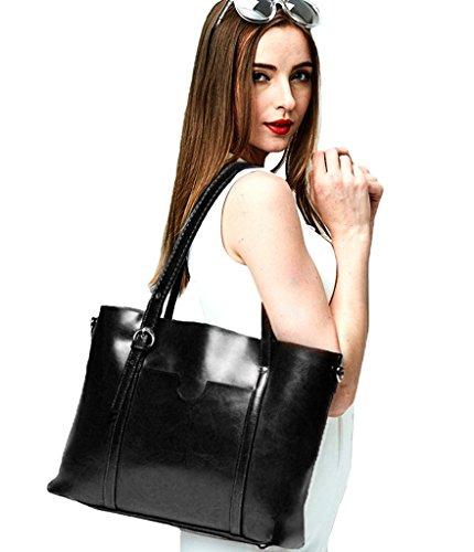 tracolla stile vintage da lavoro grande Borsa femminile morbida a Yaluxe lavoro vintage pelle da in 5qn4w1UP