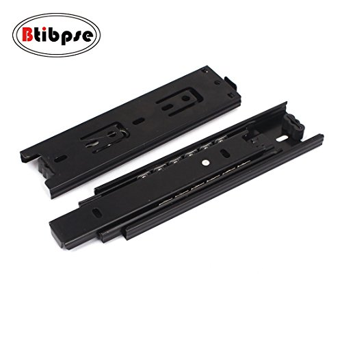 Btibpse Furniture 6-inch Length Full Extension Drawer Slides Telescopic Ball Bearing Slide Rail 2pcs (Slides Bearing Full Extension Ball)