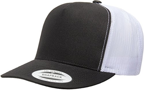 Yupoong Five-Panel Classic Trucker Cap - One Size - Black/ ()