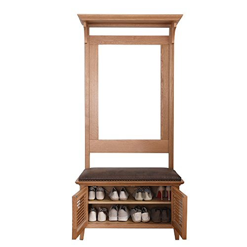 European Style Solid Wood Landing Coat Racks Entrance Living Room Multifunction Shelf Incorporated Storage Rack Shoebox Combination by MG Coat Hooks