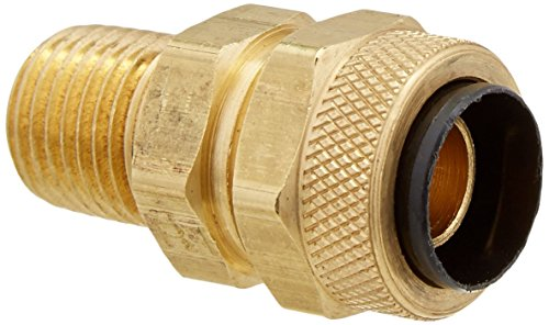 (Parker 68P-8-4-pk10 Compression Fitting for Thermoplastic and Soft Metal Tubing, Poly-Tite, Tube to Pipe, Compression and Male Pipe Connector, Brass, 1/2