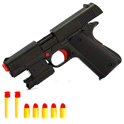 Pinovk Toy Gun Realistic Kid Toy Gun 1:1 Scale Colt M1911A1 Rubber Bullet Pistol Mini Pistols (Rubber Bullets For Airsoft Gun)