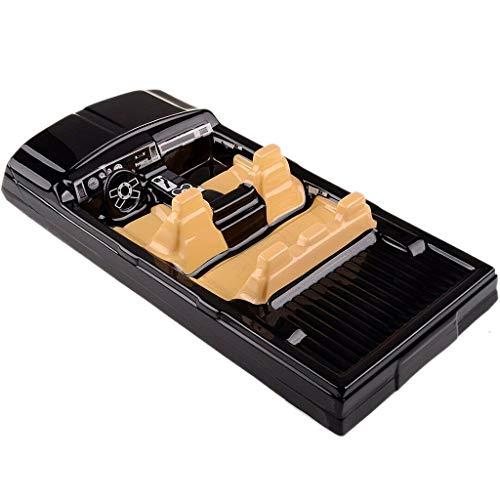 (LtrottedJ Body Shell RC Car Interior Decor for 1/10 Axial SCX10 II 90046 90047 Cherokee (Black))