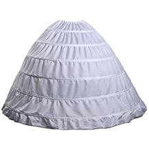L DO 6 Hoops A Line Crinoline Petticoat Skirts for Ball Gown Wedding Dress