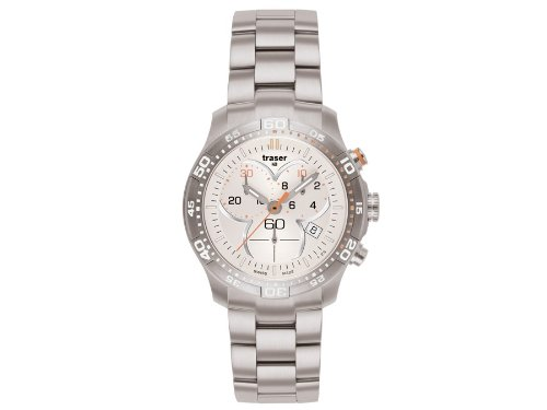 Traser H3 Ladytime Silver Chronograph Ladies Watch T7392.25H.G1A.08 / 100279