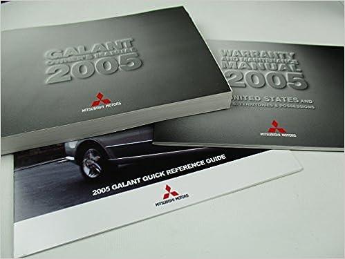 2005 mitsubishi galant owners manual mitsubishi amazon books fandeluxe Gallery