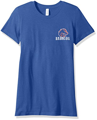 NCAA Boise State Broncos Women's Double Pattern Scroll Favorite Short sleeve T-Shirt, Large,Royal (Scroll Tee T-shirt)