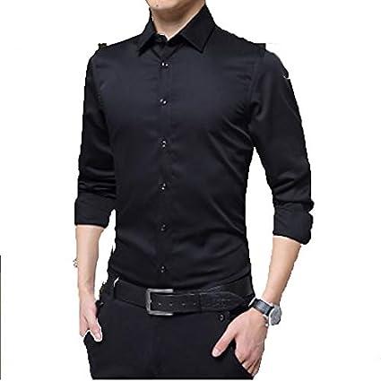 Solid Colored//Long Sleeve IYFBXl Mens Work Business//Basic Linen Shirt