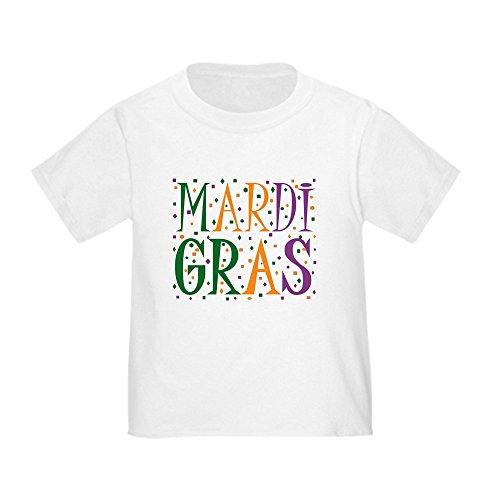 CafePress Mardi GRAS Toddler T-Shirt Cute Toddler T-Shirt, 100% Cotton White