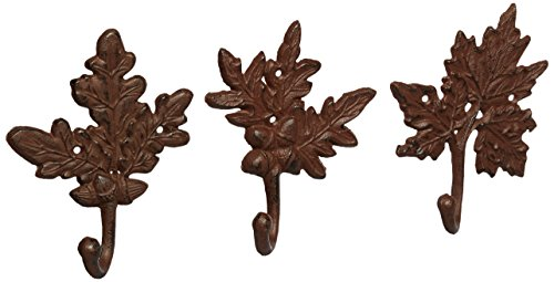 Esschert Design Leaf Hooks, Set of 3