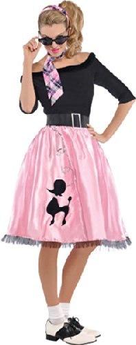 Work Costumes Fun For Halloween (Amscan Women's 50s Sock Hop Sweetie Halloween Costume, Medium)