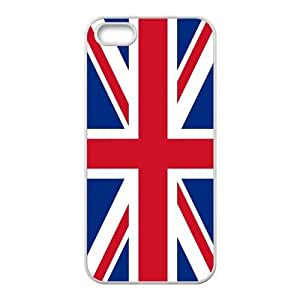 Customized UK British Flag TPU Cover Case for iPhone 5/5S Snap-on Back Cover Case-5S011BF