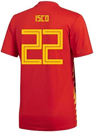 adidas ISCO #22 España Home - Camiseta de fútbol para Hombre, diseño de la Copa Mundial Rusia 2018, S, Red/Bold Gold: Amazon.es: Deportes y aire libre