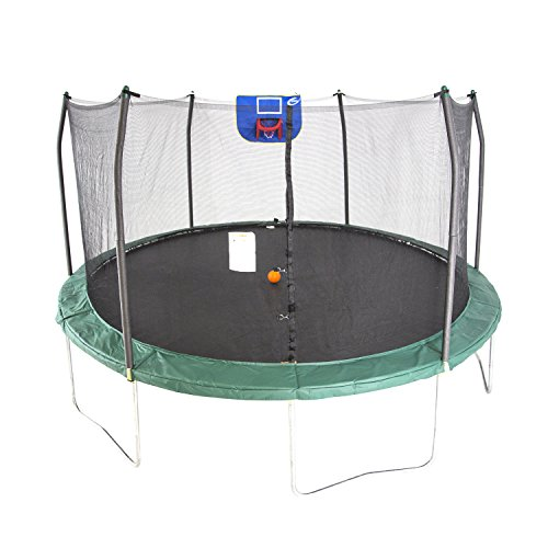 Skywalker Trampolines 15-Feet Jump N' Dunk Trampoline with Safety...