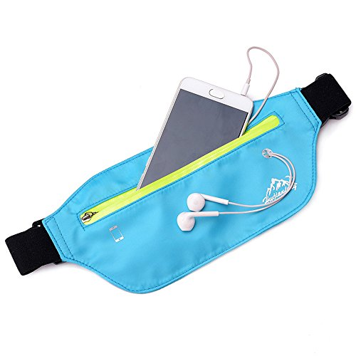 Fanny Waterproof Sling Lonshell Waist Bag Bag Funky Bumbag Sky Phone Chest Sport Pack Nylon Blue Bum Shoulder Bag Bag Running Hip Travel Storage Zipper Pack 1dTdn
