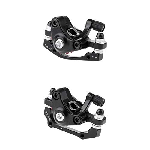 Prettyia 2Pcs Black Bike Front Rear Caliper, Mechanical Disc Brake, Cycling Bicycle MTB Part Set – Lightweight & Durable