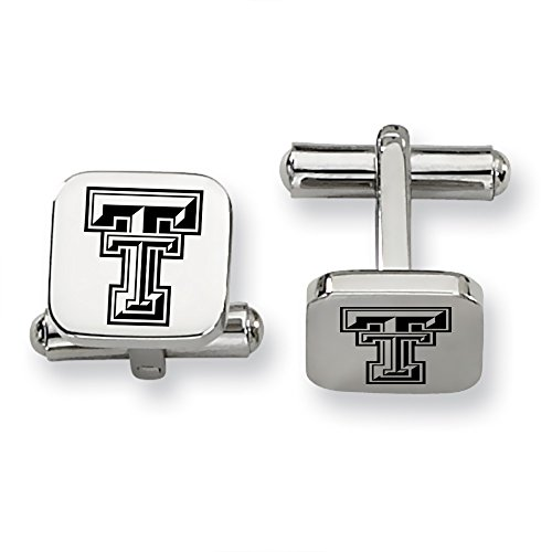 Texas Tech University Red Raiders Stainless Steel Square Cufflinks