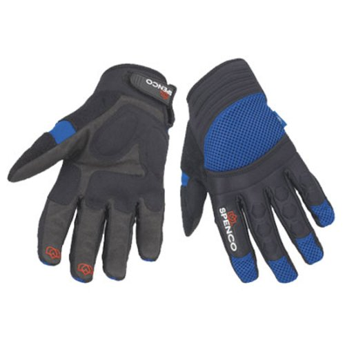 Spenco MTB Long Finger Trail Pro Cycling Gloves (Blk/Blue, X-Small) Single Track Cycling Gloves