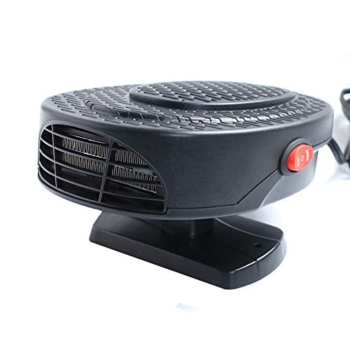 12V Car Heater Mini Portable Electric Car Heater,150W Quiet Plug in Ceramic Instant Heating Auto Window Demister Heater Fan Multifunction Car Auto Vehicle Heating Cooling Fan