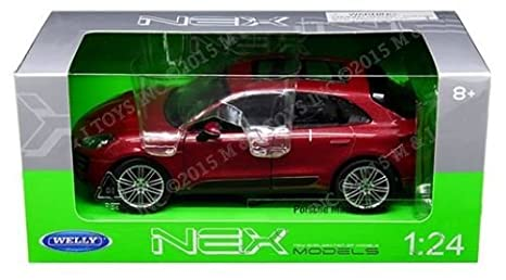 1:24 W/B PORSCHE MACAN TURBO DIECAST CAR MODEL 24047W-RD BY