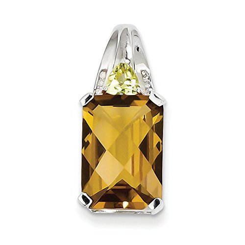 Argent Sterling diamant Quartz-JewelryWeb whisky