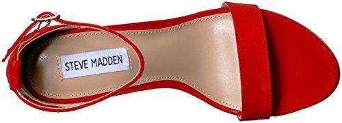 Red Steve Sandal Madden Carrson Suede Women's Dress qgwOq
