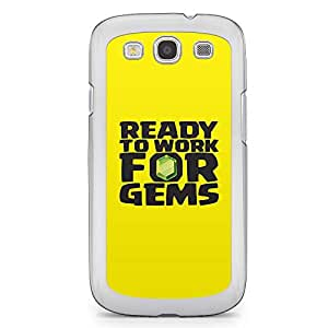 Clash of Clans Samsung Galaxy S3 Transparent Edge Case - Ready to work for Gems