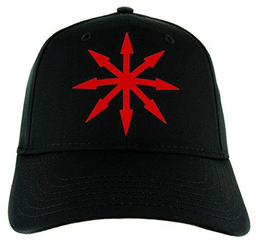 (Red Chaos Star Symbol of Eight Hat Baseball Cap Warhammer Occult Alternative Clothing Snapback)