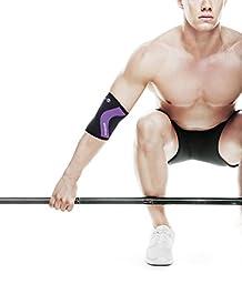 Rehband Rx Elbow Support - Medium Black/Purple