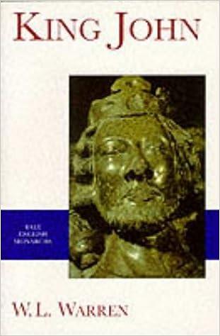 King John (The Yale English Monarchs Series)