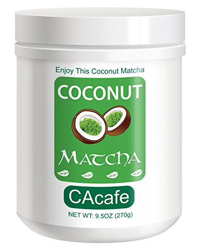 Coconut Matcha, instant style Japanese Matcha green tea with REAL coconut, 9.5oz, 9 servings by NewNew Foods