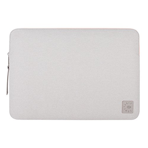 Comfyable Mac Air 13 Inch Case, MacBook Pro 13 Inch Sleeve- Waterproof & Soft Cover- Dove Gray & Pink