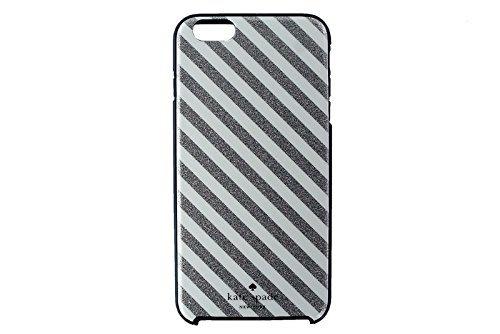 Solid White Phone Cover - Kate Spade New York Hybrid Hardshell Case Diagonal Silver White Cream Stripe for iPhone 6 Plus & 6S Plus 5.5