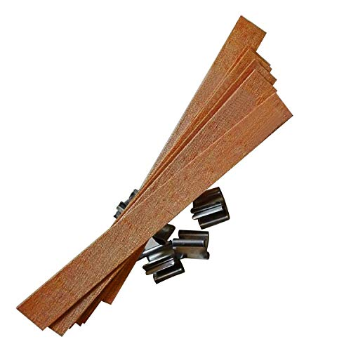 50 PCS 12.5 x 150mm Wood Candle Wicks with Sustainer Tab Supplies Velas Candele Wick for Candle DIY Making for Home Church Deco by Good Home (Image #2)