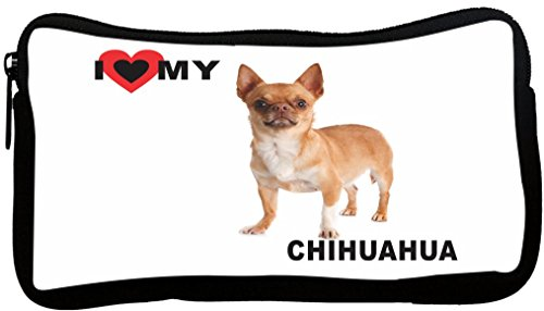 Rikki Knight I Love My Brown Chihuahua Dog Design Multifunction Messenger Bag - School Bag - Laptop Bag - with Padded Insert for School or Work - Includes Pencil Case by Rikki Knight (Image #1)