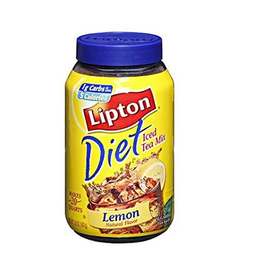 Product of Lipton Diet Iced Tea Mix, Lemon (5.9 oz, makes 20 quarts)- Pack of 3 - [Bulk Savings] (Lipton Diet)