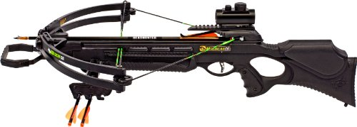 Barnett Wildcat C5 Black Crossbow Package (Quiver, 3 - 20-Inch Arrows and Premium Red Dot Sight)