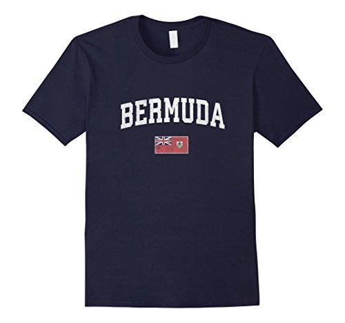 Bermuda T-Shirt Vintage Sports Design Bermudian Flag - Bermuda Mens