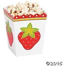 Small Strawberry Popcorn Boxes, 24 Count