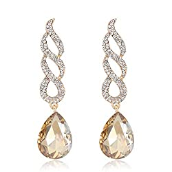 Waterfall Crystals Dangle Earrings