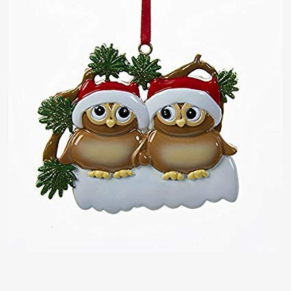 Kurt Adler Christmas Owl Family of 2 Ornament -