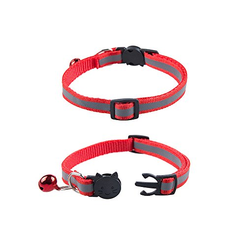 12pcs reflective nylon breakaway collars bell adjustable for small pet dogs cats 608473178433 ebay. Black Bedroom Furniture Sets. Home Design Ideas