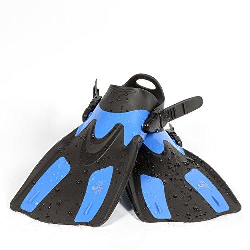 Open Heel Snorkeling Fins - Calypso Swimming Fin - Open Heel Adjustable Snorkel Fin - (L/XL)