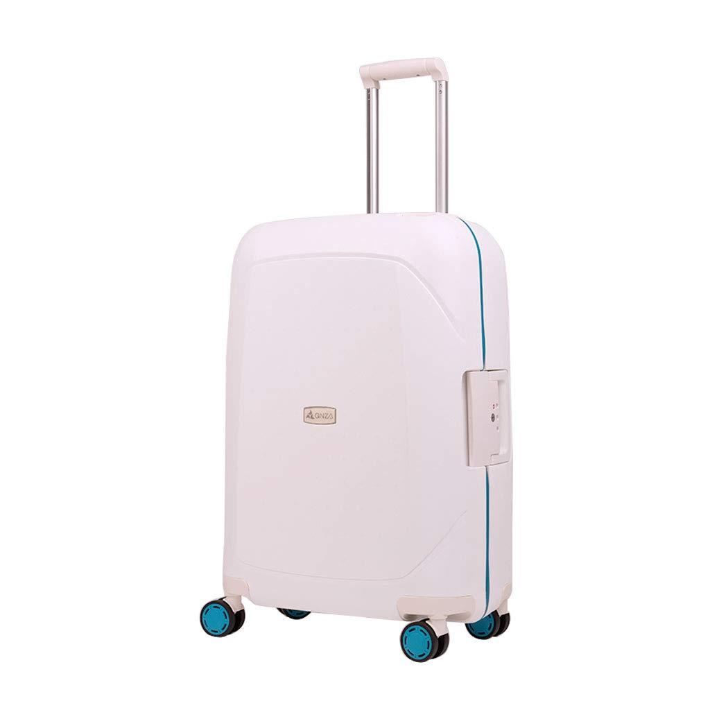 ウルトラライトハードシェルは4つの車輪が付いているスーツケースの荷物、ハードシェルキャビン手荷物のスーツケース、ホワイト(2サイズ)を続けていく 45.5*26*67cm  B07MW56FJP