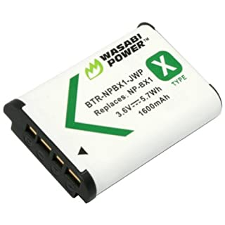 Wasabi Power Battery for Sony NP-BX1 and Sony Cyber-shot DSC-H400, DSC-HX50V, DSC-HX300, DSC-HX400, DSC-RX1, DSC-RX1R, DSC-RX100, DSC-RX100 II, DSC-RX100 III, DSC-RX100M2, DSC-RX100M3, DSC-WX300, DSC-WX350, HDR-AS10, HDR-AS15, HDR-AS30V, HDR-AS100V, HDR- (B008SFPK7M) | Amazon price tracker / tracking, Amazon price history charts, Amazon price watches, Amazon price drop alerts