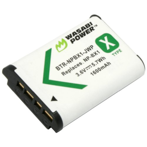 Wasabi Power Battery for Sony NP-BX1 and Sony Cyber-shot DSC-H400, DSC-HX50V, DSC-HX300, DSC-HX400, DSC-RX1, DSC-RX1R, DSC-RX100, DSC-RX100 II, DSC-RX100 III, DSC-RX100M2, DSC-RX100M3, DSC-WX300, DSC-WX350, HDR-AS10, HDR-AS15, HDR-AS30V, HDR-AS100V, HDR-AS100VR, HDR-CX240, HDR-MV1, HDR-PJ275
